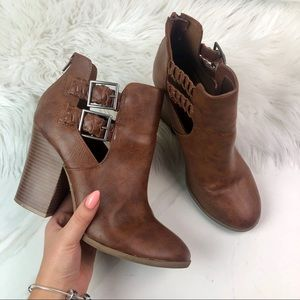 American Eagle Outfitters Shoes - American Eagle Brown Ankle Booties